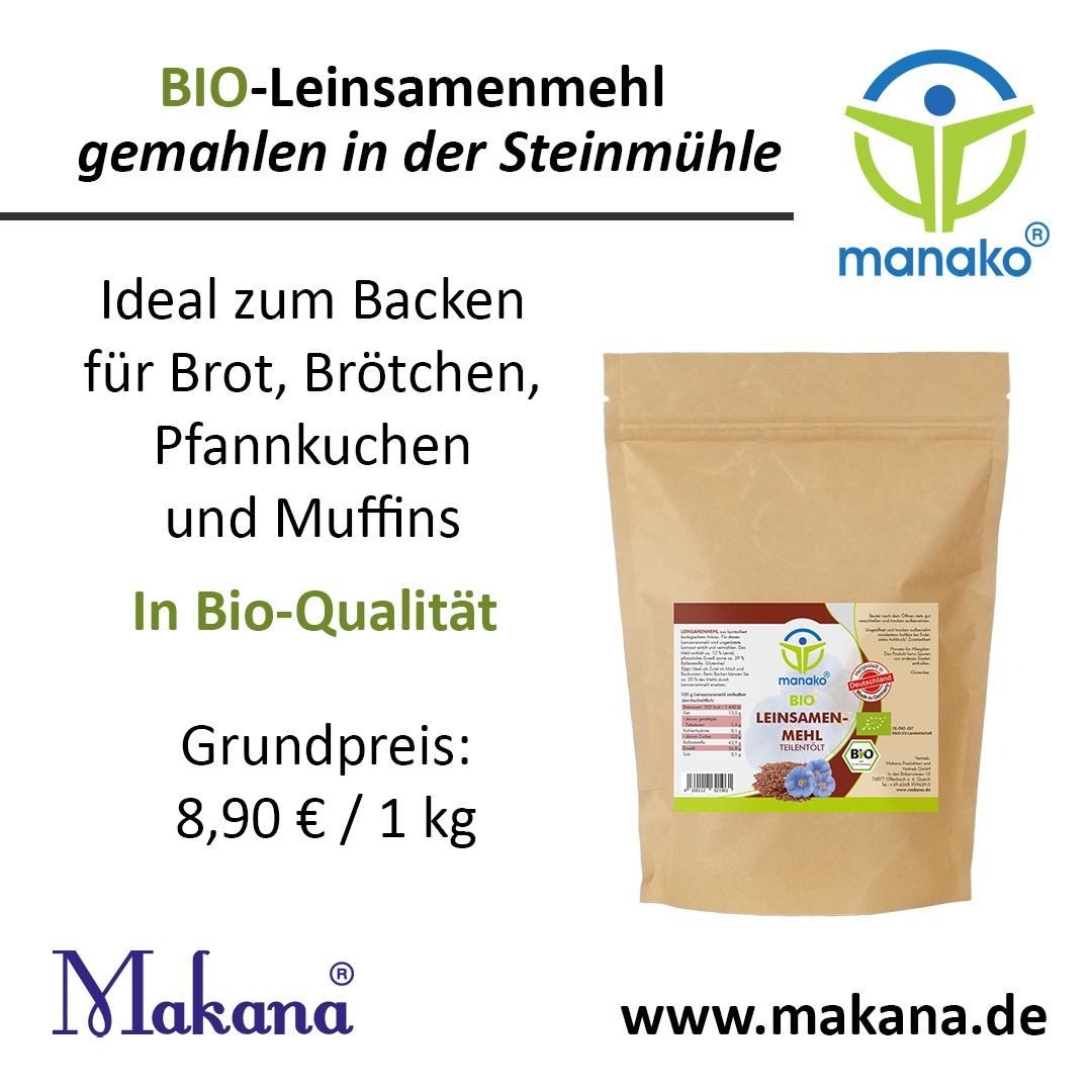 Makana Bio Leinsamenmehl