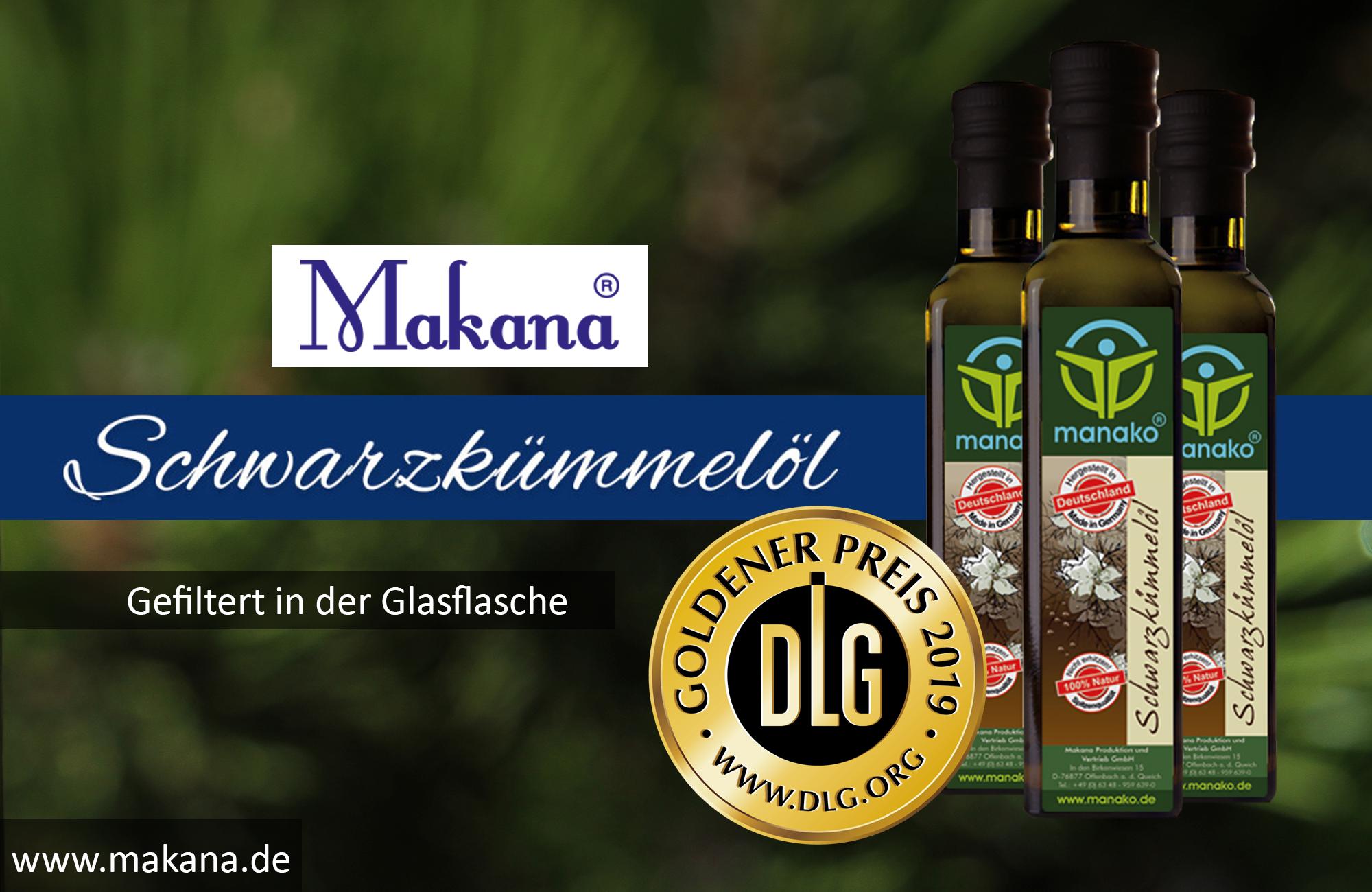 Goldener DLG Preis manako Schwarzkümmeloel